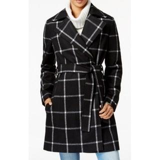 Tommy Hilfiger NEW Black Womens Size Medium M Belted Peacoat Jacket