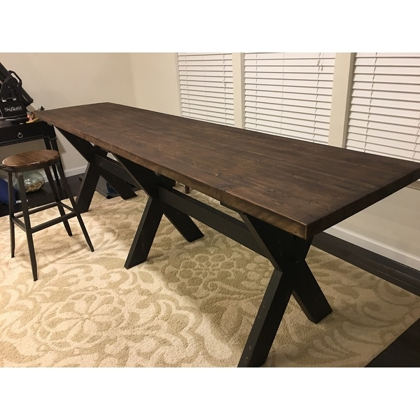 Carbon Loft Benz Reclaimed Wood Gathering Table On Free Shipping Today 19754201