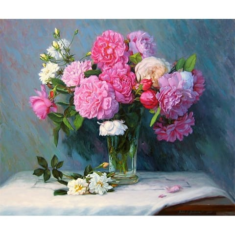 Bouquet of Peonies Paint-by-Number Kit for Kids & Adults