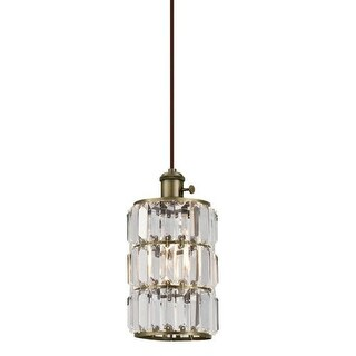 """Westinghouse 6337100 SOPHIE Single Light 6"""" Wide Mini Pendant with Crystal Prism"""