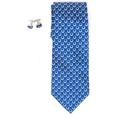 Men's 100% Silk Wedding Neck Tie And Cufflinks set Collection - regular