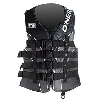 Oneill Mens Superlite USCG Vest , Black/Metallic, Large