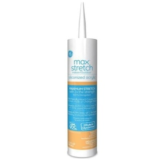 GE M90046 Max Stretch Siliconized Acrylic Caulk, 10.1 Oz, Almond