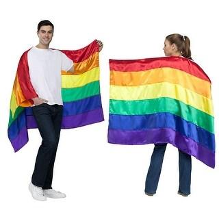 Adult Pride Flag Rainbow Costume Cape
