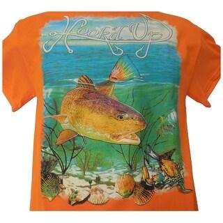 Hook'd Up Mens Redfish Short Sleeve Shirt