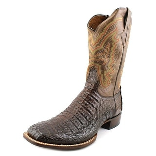 Lucchese Mad Dog Men Square Toe Leather Brown Western Boot