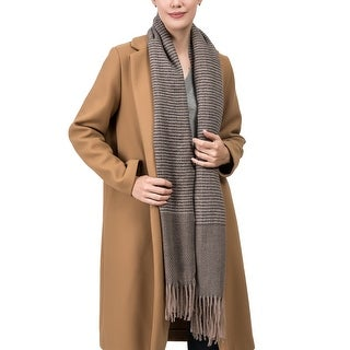 Link to Glitzhome Warm Soft Long Scarf with Tassels Similar Items in Scarves & Wraps