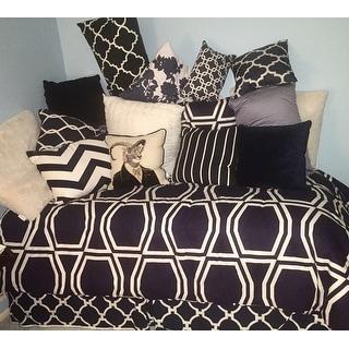 Sweet Jojo Designs Navy/ White Chevron Standard Zig Zag Pillow Sham