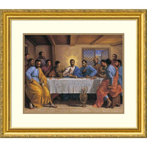 Framed Art Print 'Last Supper' by Sarah Jenkins 30 x 25-inch