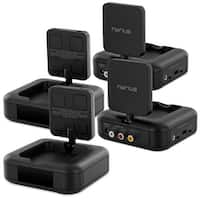 Nyrius 5.8GHz 4 Channel Wireless Video Sender Transmitter & Receiver with Remote Extender - 2 PACK