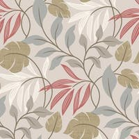 Brewster 2535-20626 Eden Grey Modern Leaf Trail Wallpaper