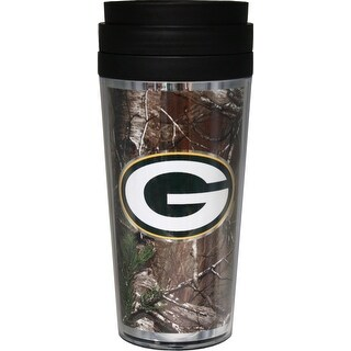 Green Bay Packers 16oz Acrylic RealTree Travel Tumbler