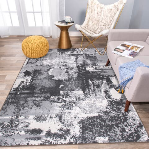 Modern Distressed Non Skid Area Rug