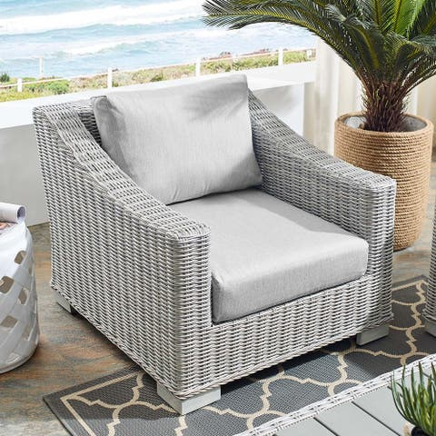 Conway Outdoor Patio Wicker Rattan Armchair