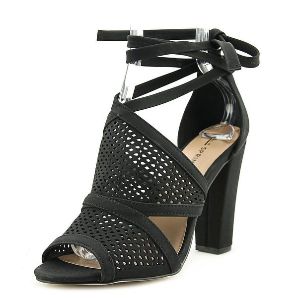 Call It Spring Rounkles Women Black Sandals