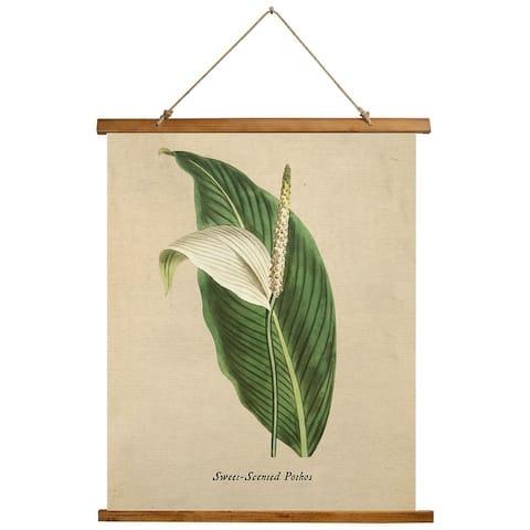 BOTANICAL VINTAGE TEN Scroll Tapestry by Terri Ellis - 26X36