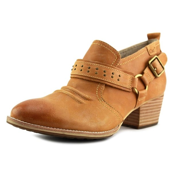 Caterpillar Liza Round Toe Leather Bootie