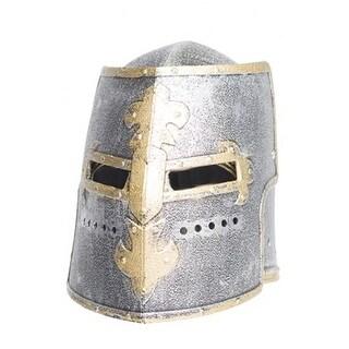 Underwraps Knight Box Helmet Silver - Silver/Gold