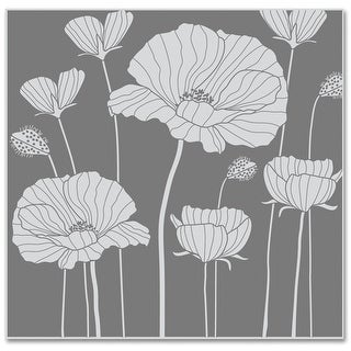 "Hero Arts Cling Stamps 4""X4""-Poppy Background"