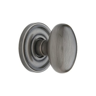 Baldwin 5225.FD Egg Style Full Dummy Door Knob Set with Classic Rosette