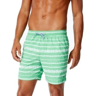 Tommy Hilfiger NEW Green Men Size 2XL Board Shorts Striped Swimwear
