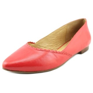 Jack Rogers Caroline Women Pointed Toe Leather Red Flats