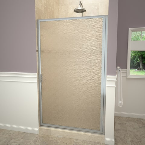 """Tile Redi 11ROFD03471 Redi Swing 70-1/2"""" High x 34-3/4"""" Wide Hinged Framed Shower Door with Frosted Glass"""
