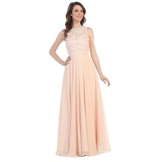 Sleeveless Lace Chiffon A-Line