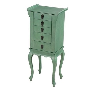 CTE Trading SW0919-SG Asian Style 4 Drawer Turquoise Jewelry Armoire