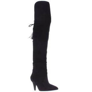 Nine West Josephine Over-The-Knee Boots, Black Suede