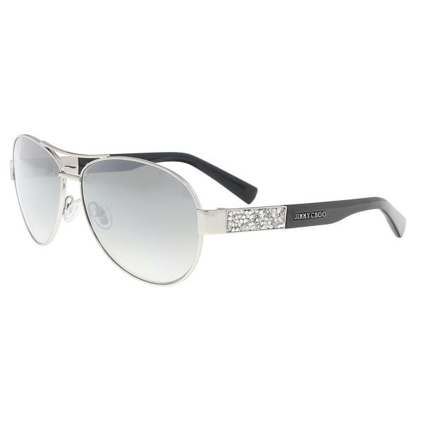 fcb5cff34bccd Shop Jimmy Choo BABA S 0RZS Palladium Grey Aviator Sunglasses - 59 ...