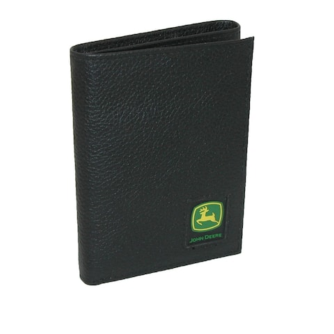 John Deere Men's Leather Pebblegrain Trifold Wallet - one size