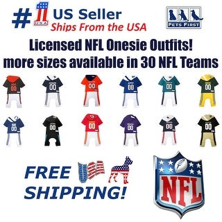 Pets First NFL Pajama Outfit for DOGS & CATS - Licensed, breathable, Dog Football Bodysuit