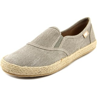 Rocket Dog Canna Women Round Toe Canvas Gray Loafer