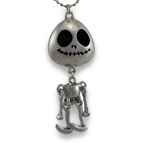 Shop smiling skeleton necklace with free moving limbs free smiling skeleton necklace with free moving limbs aloadofball Gallery