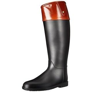 Qupid Womens Maine02 Rain Boots Knee-High Pull On