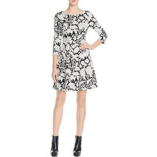 Eliza J Womens Casual Dress Bateau Neck Printed
