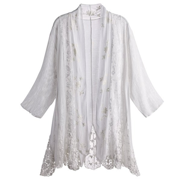 283b9c8158 Shop Women s Vanilla Lace Cardigan - 3 4 Sleeve Open Front Sweater - On  Sale - Free Shipping On Orders Over  45 - Overstock - 20846813