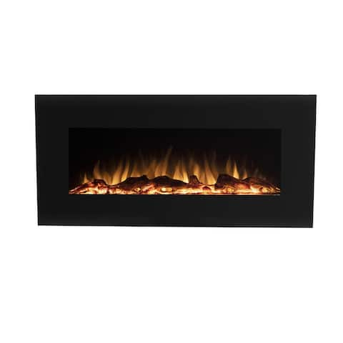 "42"" Wall Mounted or Freestanding Electric Fireplace w/Bluetooth Speaker"