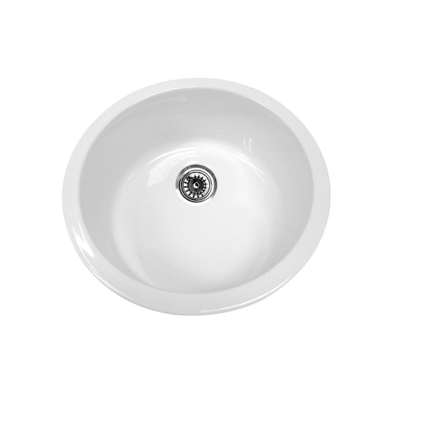 "Whitehaus WHE1818 Elementhaus 18-1/4"" Single Basin Undermount Kitchen Sink - White"