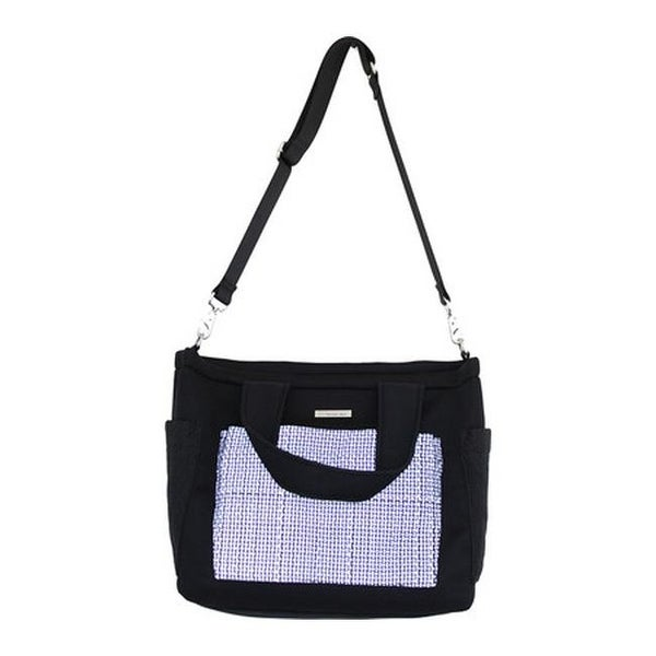 38417dd8e8 Shop Bernie Mev Women s BM23 Extra Large Travel Tote Black Neoprene Black  Reflective - US Women s One Size (Size None) - Free Shipping Today -  Overstock - ...