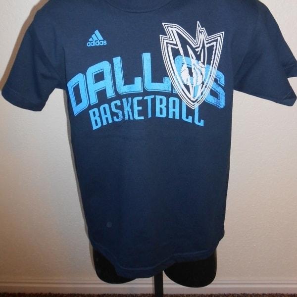 promo code 41e92 21324 Dallas Mavericks Mavs Youth Medium M (10-12) Adidas Blue Shirt