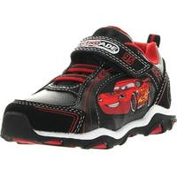 Disney Boys Mcqueen Cars Racer Fashion Sneakers - Black/Red