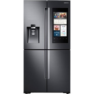 Samsung RF22M9581S 36 Inch Wide 22 Cu. Ft. Energy Star Rated Four Door French Door Refrigerator with Family Hub and Wine Rack