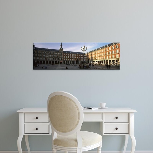 Easy Art Prints Panoramic Images's 'Tourists in the courtyard of a building, Plaza Mayor, Madrid, Spain' Canvas Art