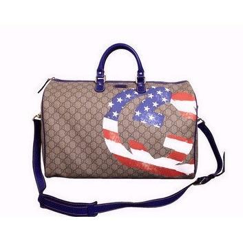 Gucci Unisex American Flag Boston Duffel Travel Bag 308264