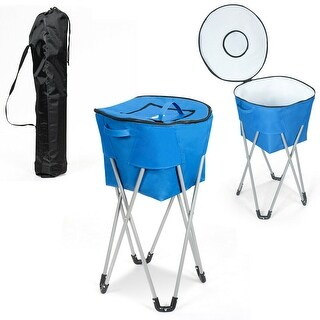 Link to Gymax Portable Insulated Tub Cooler w/ Folding Stand & Carry Bag Party Similar Items in Fan Shop