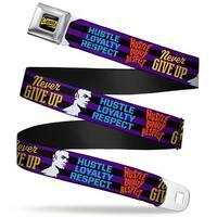 John Cena Mesh Full Color Black Gold White John Cena Silhouette Hustle Seatbelt Belt