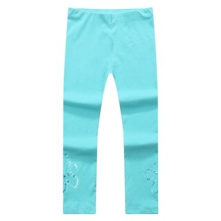 Richie House Baby Girls Blue Shiny Sequined Leggings 12M-24M