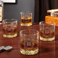 Winchester Monogram Etched Whiskey Glasses